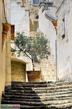 Matera: Altstadtgasse