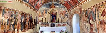 Lentiscosa: Fresken in der Kapelle Santa Maria dei Martiri