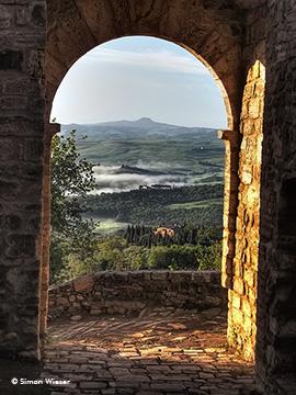 San Quirico d'Orcia: Morgenstimmung