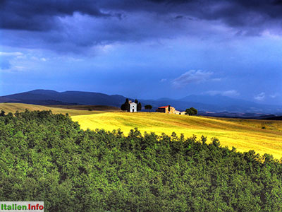 San Quirico d'Orcia: Gewitterstimmung im Val d´Orcia