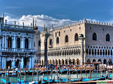 Venedig: Dogenpalast und Monolithsäulen