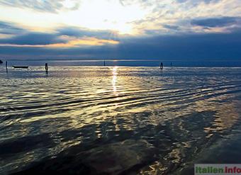 Venedig: Abendstimmung bei Pellestrina