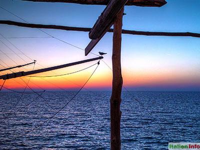 Peschici: Il Trabucco - nach dem Sonnenuntergang