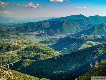 Viggianello: Belvedere di Malvento - Blick nach Kalabrien