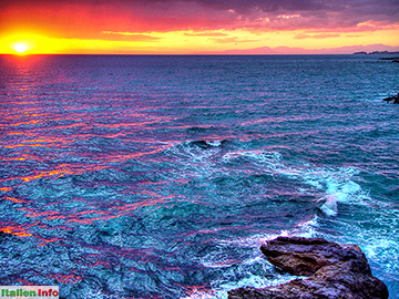 Belvedere Marittimo: Sonnenuntergang