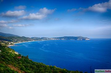 Palinuro: Cilento-Küste mit Capo Palinuro
