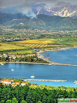 Ameglia: Magra-Mündung bei Bocca di Magra