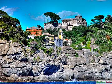 Portofino: Castello Brown und die Chiesa di San Giorgio