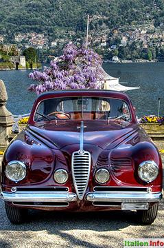 Cernobbio: Alfa Romeo Oldtimer an der Villa d´Este