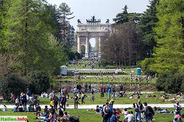 Mailand: Parco Sempione - beliebtes Ausflugsziel