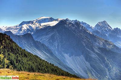 Livigno: Passo di Foscagno - Blick auf den Ortler