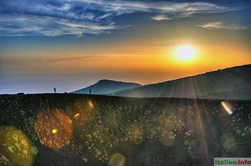 Nicolosi: Ätna - Sonnenuntergang