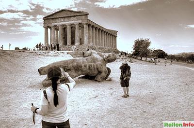 Agrigent: Ikarus-Statue