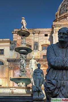 Palermo: Fontana Pretoria - Detail