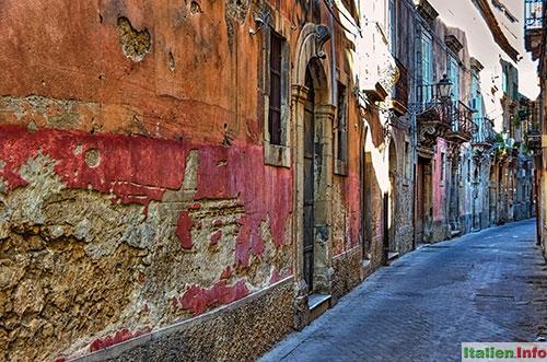 Syrakus: Gasse in der Altstadt