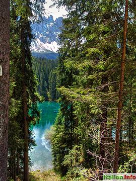 Welschnofen: Karersee - Lago di Carezza