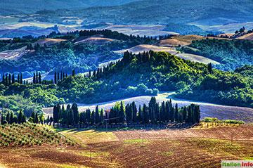 Asciano: Hügel in der Crete Senesi