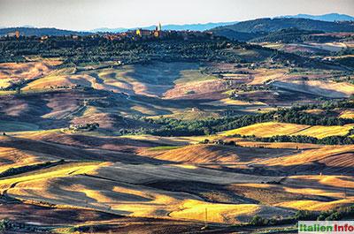 Castiglione d´Orcia: Abendsonne über dem Val d´Orcia