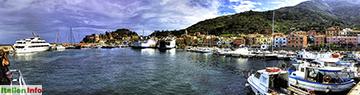 Giglio Porto: Hafen-Panorama