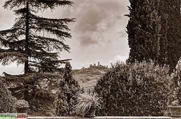 San Gimignano: Markante Silhouette
