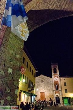 San Quirico d'Orcia: Abendstimmung