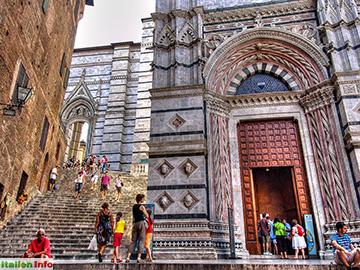 Siena: Dom Santa Maria Assunta - Rückseite