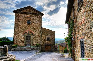 Radda in Chianti: Volpaia - Turmkirche Sant´Eufrosino