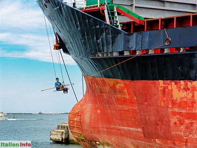 Chioggia: Hafen - Hochseeschiff