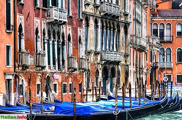 Venedig: Fassadenvielfalt am Canal Grande