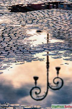 Verona: Piazza Bra - Spiegelungen